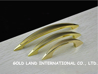 128mm Free shipping 24K golden color furniture handle