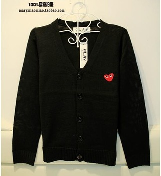 2012 autumn and winter play cardigan lovers men's sweater outerwear plus size