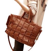 Vintage knitted patchwork handbag one shoulder female bags 2012 trend Women bag fashion all-match