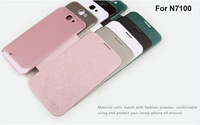 5pcs/lot Original Rock Leather Flip Case cover For Samsung Galaxy note2 N7100, with Hard plastic back cover free shipping