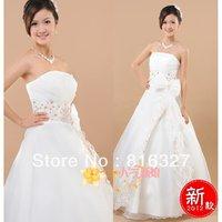 Free Shipping Guaranteed 100% satin the bride wedding dress formal dress cheongsam royal quality wedding dress