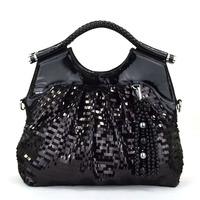 Autumn pendant lace casual women's handbag cross-body paillette bags female