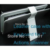 "1 pcs cheap snake skin leather keyboard case mini USB for 7"" tablet PC"