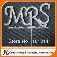 free shipping mixed letters rhinestone cake topper 50pcs/lot