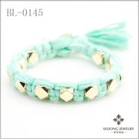 Gold chunky bracelets handmade bracelets braided bracelets knitting wool 20pcs/lot -free shipping