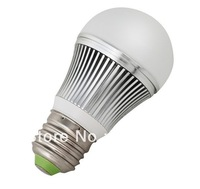 free shipping E27 E26 3W high power led bulb AC85V-265V Bridgelux led chip 2years warranty