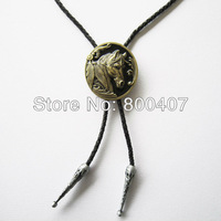 Wholesale Retail Bolo Tie (Antique Bronze Western Horse Head Bolo Tie) Factory Direct Free Shipping