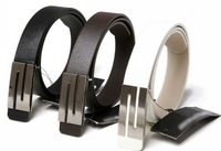 Faux Leather S Shape Metal Buckle Belt for men and women,Free shipping,hot