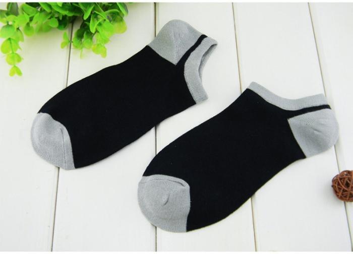F04126-15 Assorted color bamboo fiber Socks Slipper Men Casual Sport rib top Boat sock + Freeship(China (Mainland))