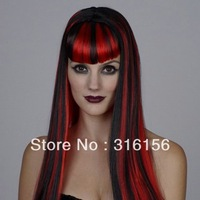 3 styles for you,Cosplay Cleopatra dance party halloween christmas wig - - bangs long straight hair 1pc/lot CPAM free shipping