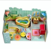 free shipping 5pcs/lot  3D stereo home furnishing Model Puzzle,Children's educational toys