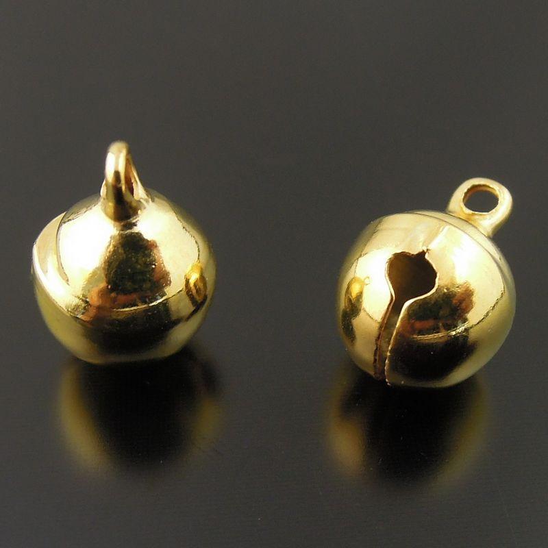 Fashion Metal Small Jingle Bell Christmas Decoration Jewelry Finding Free Shipping 36588 009A 6 6mm 300pcs