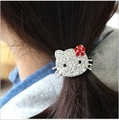 Full of plastic Diamond hello kitty hair extension,hair accessories,4 colors,whoelsaale