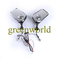 Free Shipping Brand New Motorcycle Rear Mirrors with MP3 Audio and FM Radio Speakers System