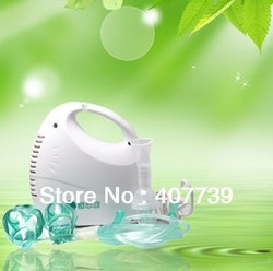 New tech CEmedical protable air compressor nebulizer with oxygen mask for health care equipment free shipping(China (Mainland))