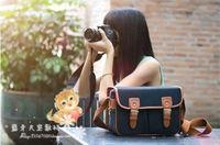 Free Shipping Waterproof Digital Camera shoulder Bag for 550D 600D 5D2 60D 50D, with Shoulder Belt & Handle (B810)