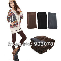Thicken Plain Autumn winter pants for women christmas leggings trousers Velvet pants ,FREE SHIPPING