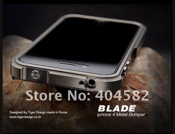 Lowest Price Blade Aluminum Bumper Frame Case Cover For iPhone 4G 4s ultra sleem +Free Shipping(China (Mainland))