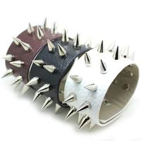 [Min. 10$] 2014 hot selling cool leather bracelet with rivet spike studded wrap bracelet men&women