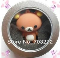 wholesales Round Zinc Alloy Tin  Display Box for U Flash disk drive,Keychain,jewelry size:65*40mm 1pcs/lot free dropshipping