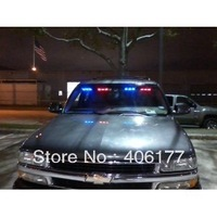 54 x Ultra Bright Blue and Red LED Emergency Warning Use Flashing Strobe Lights Bar For Windshield Dash Grille Free Shipping
