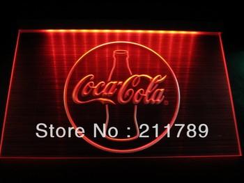 HW2102 Coke Logo Beer Bar Pub Store Neon Hairline Light Sign led