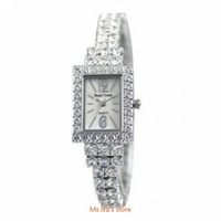 Free shipping excellent quality Royal crown 3584 gentle diamond bracelet jewelry white gold plated fashion watch wristwatches