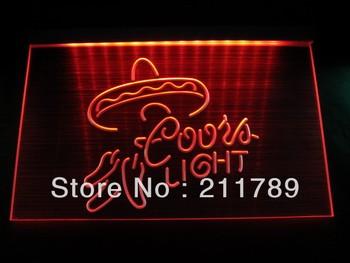 HW1402 Coors Light Logo Beer Bar Pub Store Neon Hairline Light Sign LED led