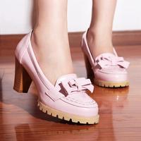 Free/drop shipping girls fashion high heels for women big size shoes woman platform pumps casual Bowtie Eur 43 lady SCX02470