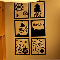 Wall stickers glass stickers christmas window stickers Christmas wall stickers new year decoration
