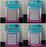 Brand Name 18K 3D Metal Nail Art Sticker / 3D nail sticker / Nail Decals, 50pcs/lot  Free Shipping