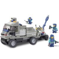 gift Building Block Set SlubanB0200 artillery tractor    Model Enlighten Construction Brick Toy Educational  Toy for Children