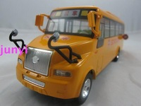 Free Shipping Vocalization alloy bus domestic bus model school bus door bus