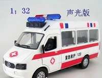 Cars iveco 120 ambulance alloy car model toy 2