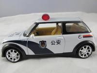 Alloy car models mini police car model the door acoustooptical WARRIOR 110