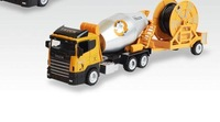 Cars large cement mixer truck water pipe truck model alloy cement tanker toy