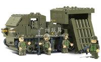 Building Block Set SlubanB0303  Army- titanium rocket    Model Enlighten Construction Brick Toy Educational  Toy for Children