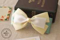 (MIN ORDER $15)Handmade summer small fresh candy colored bow hairpin  A026
