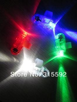 Free Shipping 1000pcs/lot (250sets) 4.5*1.5*1.5cm laser finger beams flashing finger lights led finger lamp for Christmas