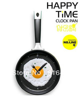free DHL interesting design wall clock (cooking egg design) various colors