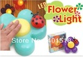 Creative- flowers Small Flower Pat Night Light Lamp Bed-lighting Convenient Table Wall Lights 3pcs