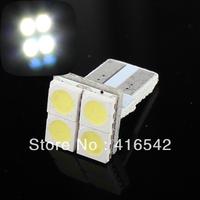 Wholesale free shipping white T10 4SMD 5050 canbus led bulb , Car Turning Signal Light , warning canceller auto led bulb
