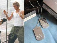 Beckham classic fashion charm Dog Tag pendant necklace free shipping