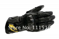 New RS-TAICHI RST047 Leather gloves Motorcycle gloves Racing gloves long model Black red blue M/L/XL [JJ1] dswmn