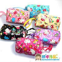 "Free shipping wholesale 24ps/ 4"" children's women's hello kitty handbag bags card holder/Cartoon mini coin purse wallet wallets"