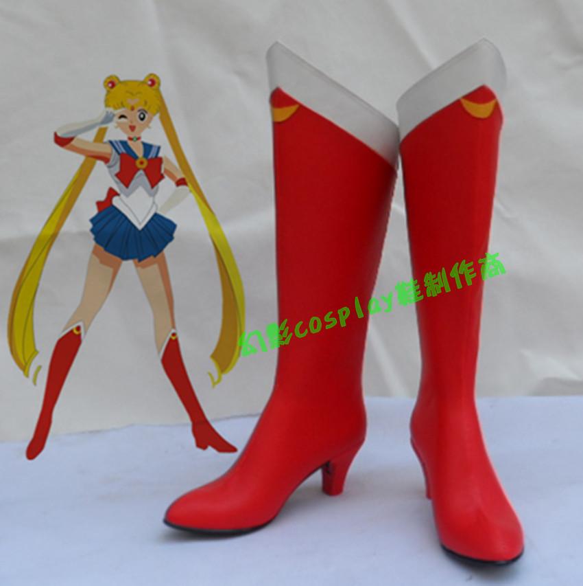 sailor moon tsukino usagi boots shoes custom made