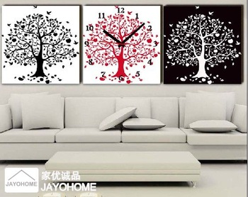 Free shipping Abstract frameless painting decorative painting the static sound canvas wall clock