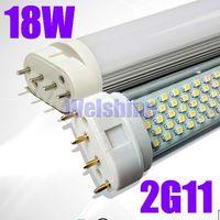 50pcs/lot free shipping super bright 18w 1728-2016lm 288 SMD3528 led tube light 2G11 base-54CM long