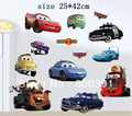 Free shipping SIZE25*42cm cars stickers, boy room wall decor, Kid&#39;s room decorations Removable Wall Sticker 703