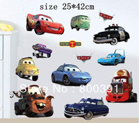 Free shipping SIZE25*42cm cars stickers, boy room wall decor, Kid's room decorations Removable Wall Sticker 703